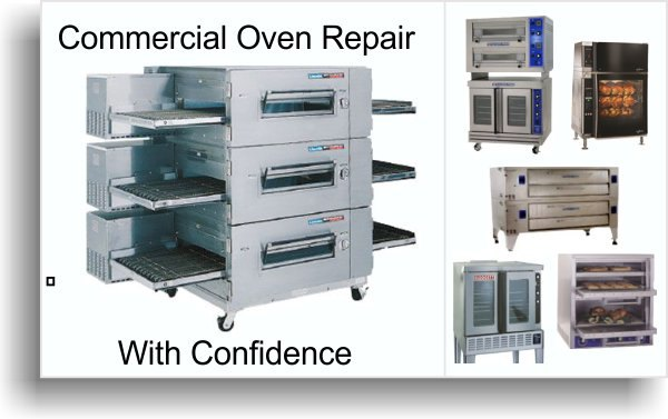 commercial oven repair and service banner