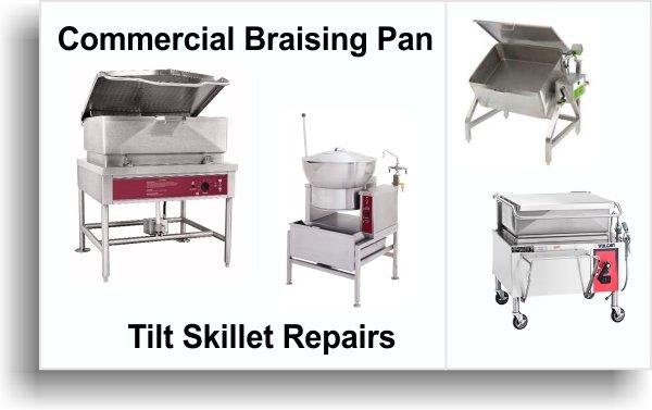 tilt and braising pan repair